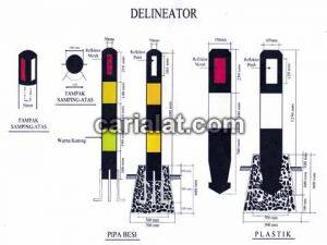 delineator besi