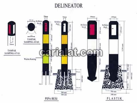 Delineator-Besi-patok-jalan-a