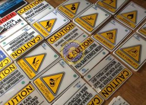 acrylic safety sign indoor