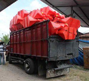 pengiriman road barrier plastik