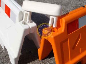 stackable water filled barrier