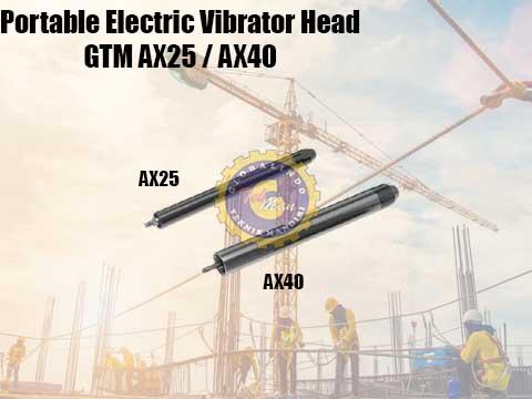 portable electric vibrator head
