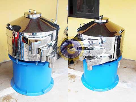mesin pengayak bubuk coklat