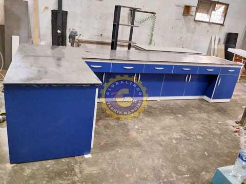 Meja Laboratorium Wall Bench